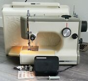 Vtg Sears Kenmore Rose Case Portable Sewing Machine 158-10302 Works Clean