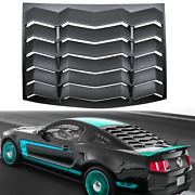 Rear Window Louvers For Ford Mustang 2005-2014 Scoops Cover Windshield Vent Abs