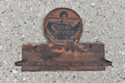 Super Service Superior Products For Motoring America Antique Advertising Sign