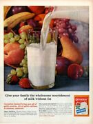 Vintage Advertising Print Dairy Carnation Magic Crystals Milk Instant Wholesome