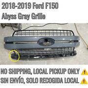 2018-2019 Ford F150 Lariat Grille Abyss Gray Minor Crack ⚠️ No Ship Local Pu⚠