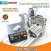3axis 6040z-s80 1500w Spindle Mach3 Cnc Engraving Milling Machine 220v Db25 Port