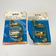 2 A Set Of National Hardware Dpv130 Swing N Stay Cafe Door Hinge In Brass Read
