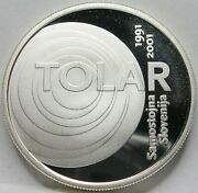 Slovenia 2000 Tolar 2001 Proof Unc Silver 10th Ann. Independence