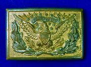 Antique Us Ww1 Wwi English British Made Officer's Belt Buckle