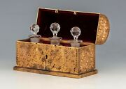Antique Bronze Parfume Box - With 3 Parfume Glass - Hd Pictures