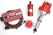 Red Ford Fe Msd Ignition 6al Box Tsp Pro Billet Distributor And Coil