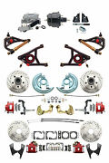 A F X Body Gm Red 2 Drop D/s Disc Brake Kit Control Arms And Black Booster