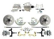 A F X Body Gm Front Disc Brake 2 Drop Spindle Kit W/ Chrome Booster And M/c