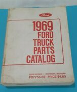 1969 Ford Truck Parts Catalog Manual Book,fd7753-69,dearborn Michigan,1679 Pages