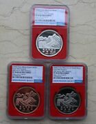 Ngc Pf70 China Great Wall Medals Set Bice, Beijing Coin Expo, Show Releases