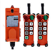 Industrial Wireless Signal Transmitter And Receiver 6 Button With Emergency Stop
