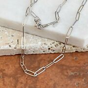 14kt White Gold 2.6mm Paper Clip Open Link Chain Necklace New Various Lengths