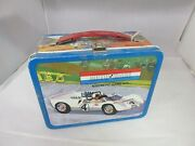Vintage Advertising 1967 Auto Race Game Tin Lunchbox Lunch Box Pail 217-s