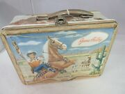 Vintage Advertising Gene Autry Tin Lunchbox Lunch Box Pail 402-t
