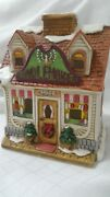 Wattand039s Candle Shop Candlemaker 1990 Lefton Colonial Christmas Village 07479 C2