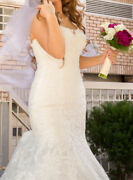 Wedding Dress Mermaid Size 10 Color Ivory Sparkly Tull