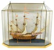 Model Ship Spanish Galleon Large Glass Case Model Great Man Cave Piece