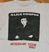 1980 Alice Cooper Vtg Rock Concert Tour Tee T-shirt M Rare 1970and039s Glam Metal