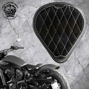 Solo Seat Indian Scout Since`17+mounting Kit+springs Drop Gus Blackandwhite V3 S