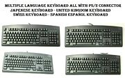 Ps/2 Connector Keyboards With Multiple Languages Japanese Uk Swiss And Spanish
