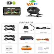 Wireless Wifi Car Rear View Cam+radar Hd Night Vision Iphone Android Waterproof