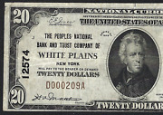 Ny 1929 20 ♚♚white Plains, New York♚♚ Very Hard To Find