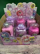 Pikmi Pops Cheeki Puffs Medium Collectible Scented Shimmer Plush Lot Of 6 New
