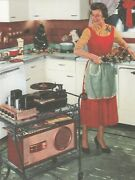 Postcard-mom's Old-fashioned Kitchen And Old Record Player -...classic-