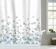 Nice Watercolor Floral Blossom Farmhouse Water-repellent Fabric Shower Curtain