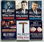 Lot Of 6 Bill O'reilly Killing Series Reagan Lincoln Jesus Kennedy And 2 More