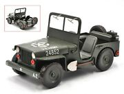 Us Ww2 Army Jeep Willys-overland Antique Reproduction Artwork Figurine Home Deco