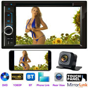 Sony Len Camera + Double 2din Touch Bluetooth Dvd Player Car Stereo Fm Radio Swc