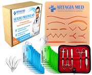 Complete Suture Practice Kit For Suture Training Including Large Silicone Sutur