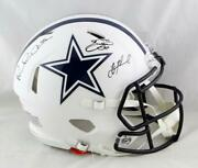 Irvin, Smith, Aikman Signed Cowboys F/s Flat White Authentic Helmet - Ba W Auth