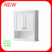Wyndham Collection Avery 30 Wood Wall Mounted Bathroom - White