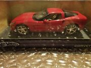 Hot Wheels Metal Collection 2005 Red Chevrolet Corvette C6 118 Scale Nib Sealed