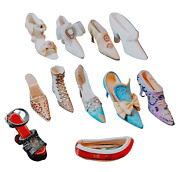 Miniature Shoes Lot Of 11 Nostalgia, Putting On The Ritz, Willow Hall, Unbranded