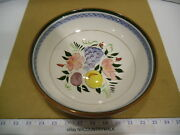 Stangl Pottery Trenton Nj Dura Fired Fruit And Flowers 10 Round Serving Bowl Euc