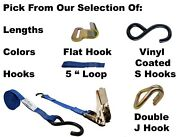 Ctdusa 1 Inch Ratchet Strap. Various Lengths, Colors And Hardware.