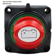 6pcs Car Dual Battery Selector Switch Off 3 Speed Marine Rv Boat Easy To Use