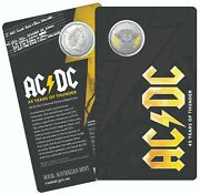 2018 50 Cent Ac/dc Carded Coloured 45 Years Of Thunder