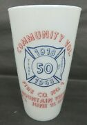 1968 Mountain View Nj New Jersey Fire Fighting Co 50 Yr Aniv Milk Glass 2 Color