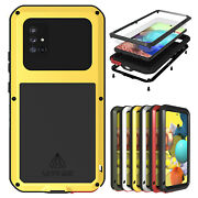 Love Mei Shockproof Metal Case Glass Cover For Samsung Galaxy A51 5g/a71 5g/a41