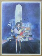 Aya Takano Little Stars Of City Child. Lithograph. Edition 300. Framed.