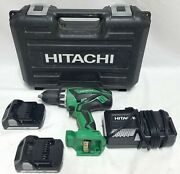 Hitachi 18v Cordless Driver Drill Ds 18dgl With 2 Batteries, Charger + Case