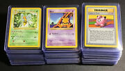 Pokemon Complete Base Set Shadowless Non-holo 17-102 Wotc [played Condition]