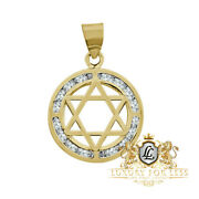 New Real 100 Authentic 10k Yellow Gold 6 Point Jewish Star Mini Charm Pendant