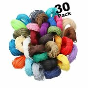 328 Yards 30 Colors 1mm Waxed Polyester Twine Cord Macrame Bracelet Thread Fo...