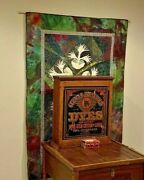Antique German Household Dyes Wooden Store Display Cabinet Fox Graphic C.1900